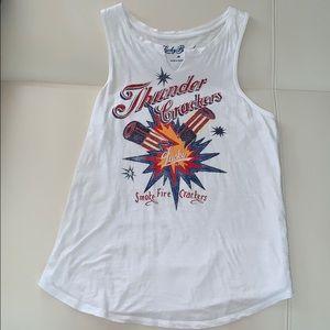 Lucky Brand firecrackers tee tank top shirt